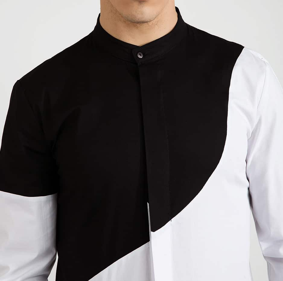 Shirt with zip