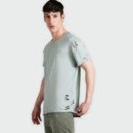Asymmetrical t-shirt with lazer cuts