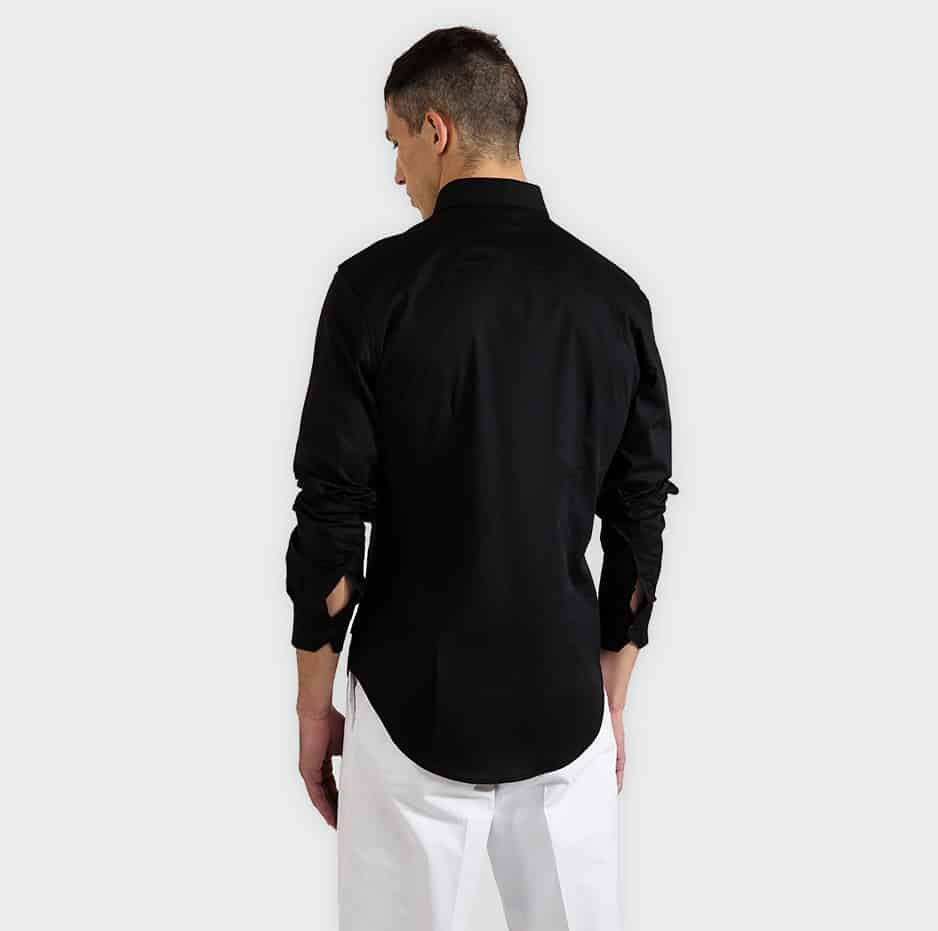 Shirt with front pleats