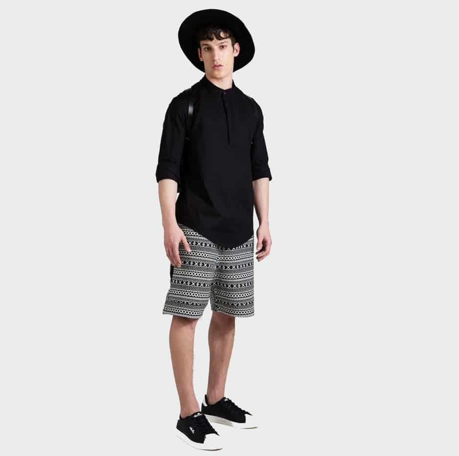 Printed Shorts-front