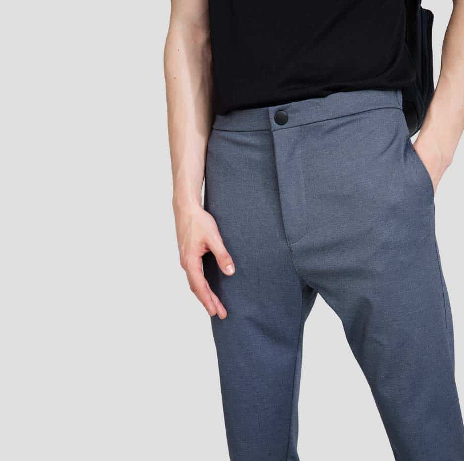 Pants with button details