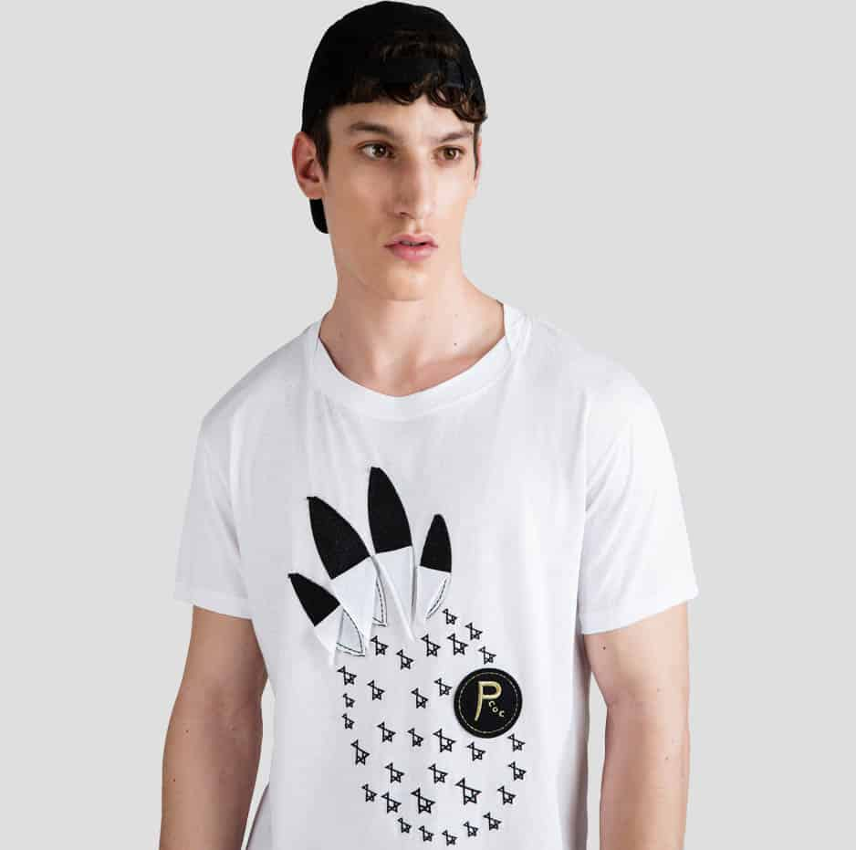 T-Shirt with pineapple pattern with P/COC logo
