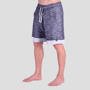 Double hem shorts with P/COC tape sideways