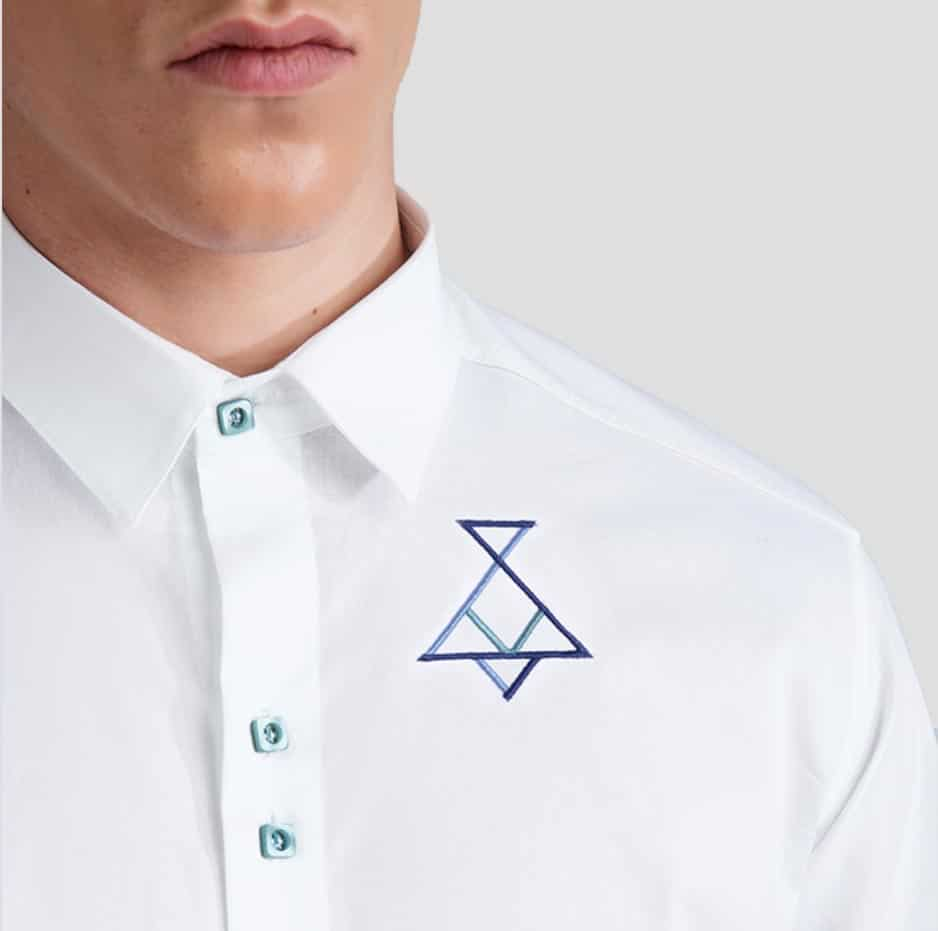 White shirt with P/COC embroidery