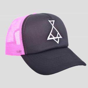 pink/black hat