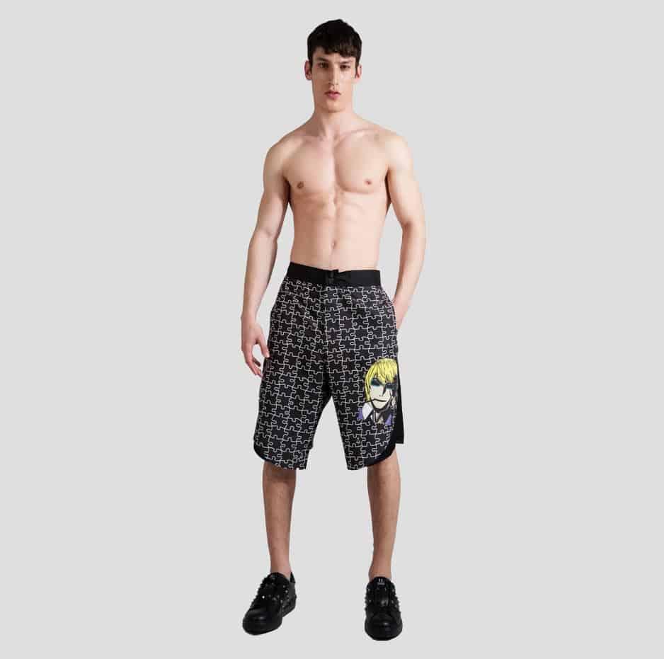 Puzzle printed swimwear