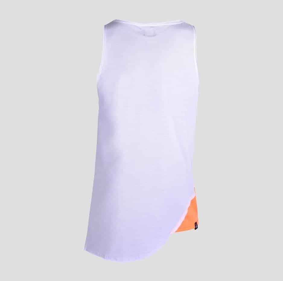 White double fabric sleeveless t-shirt