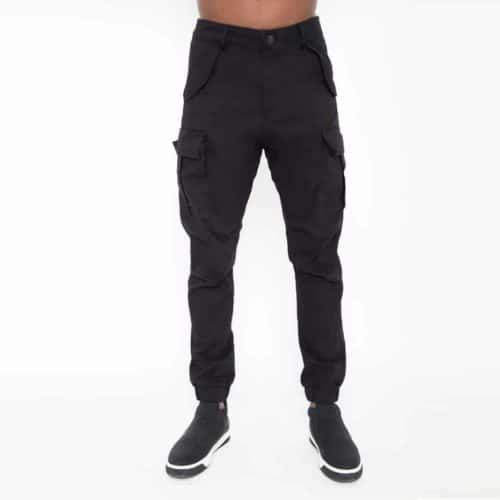 Black biker pants with large pockets_thumbnail