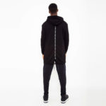 Black jacket with contrasting hood_back