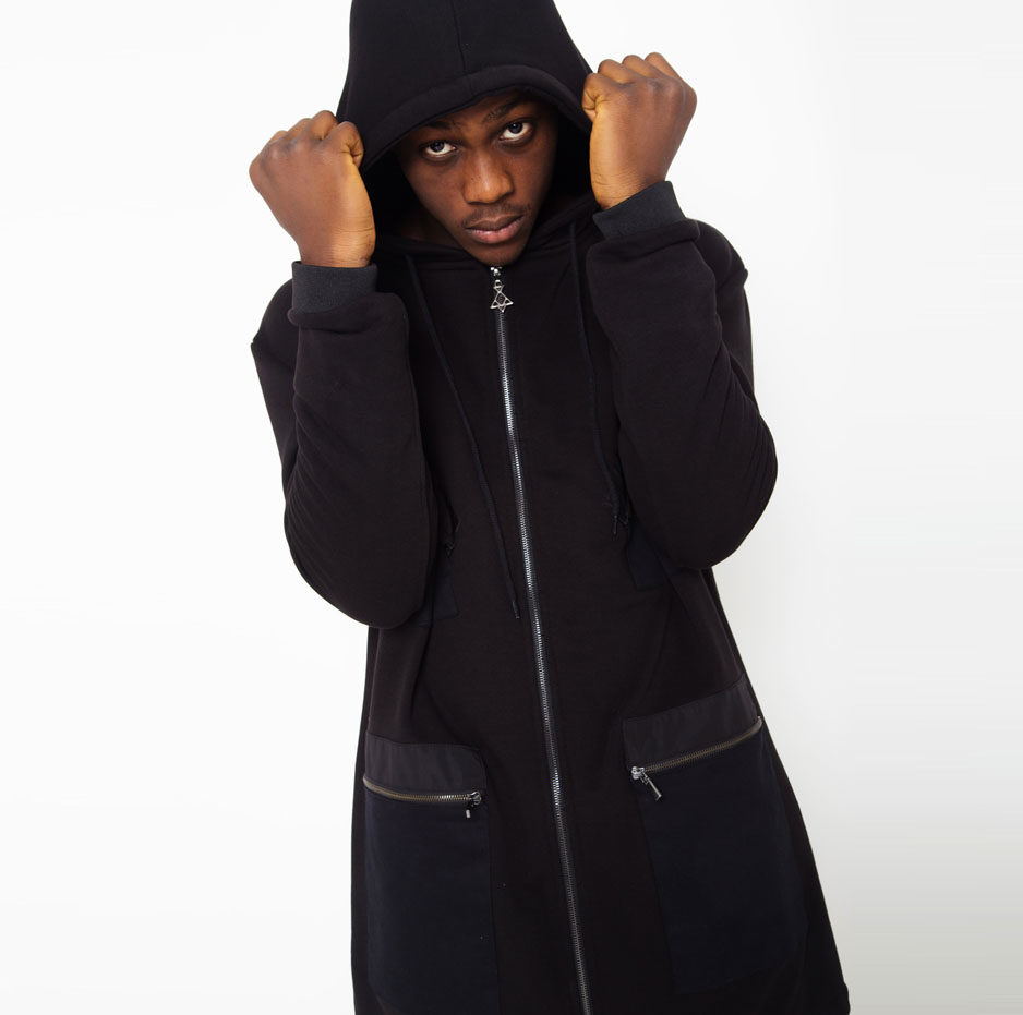 Black jacket with contrasting hood_thumbnail