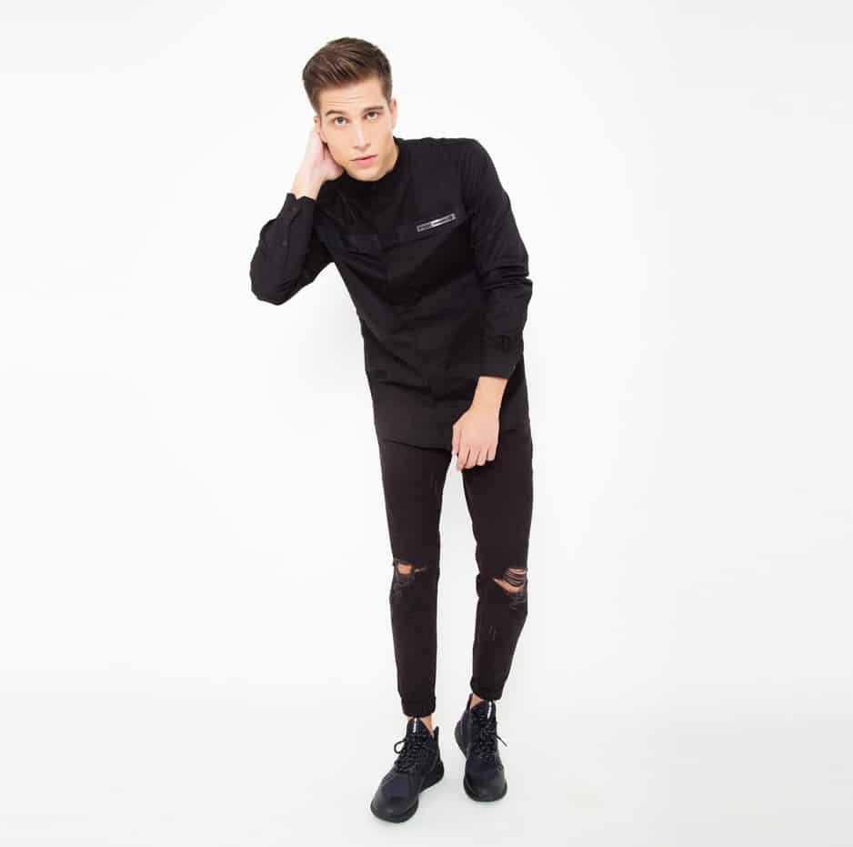 Black mao shirt_front