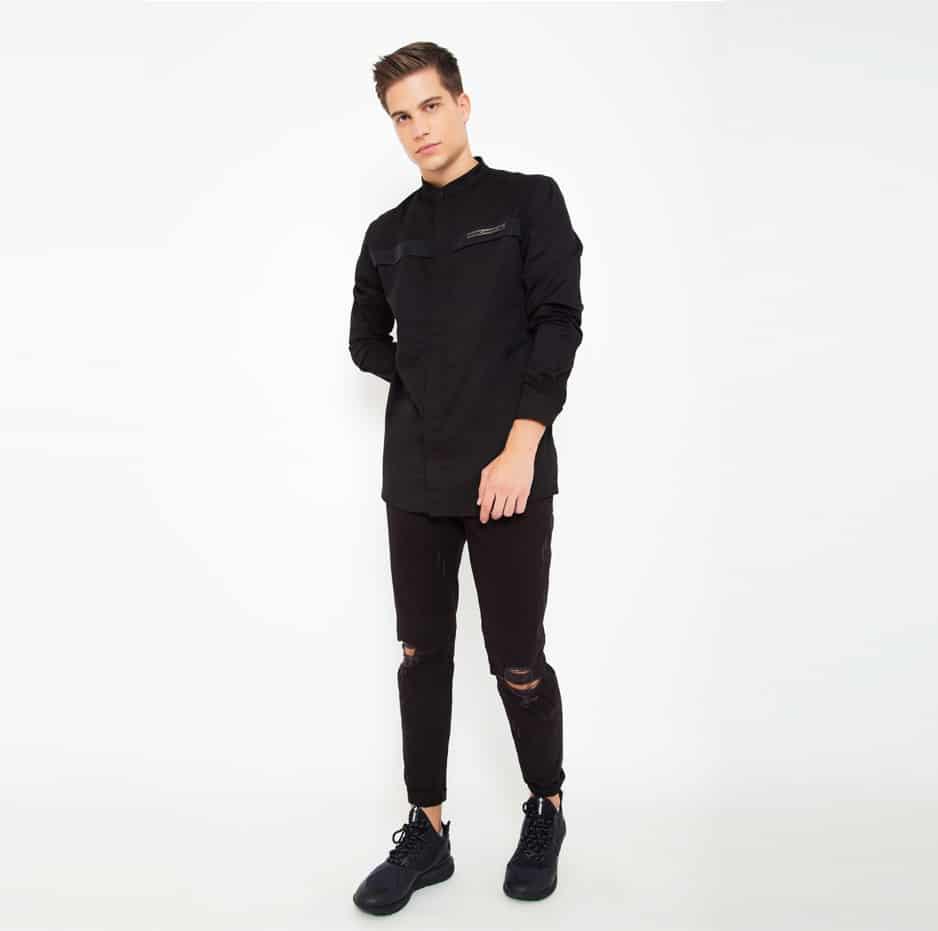 Black mao shirt_front2v