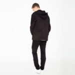 Double fabric hoodie_back