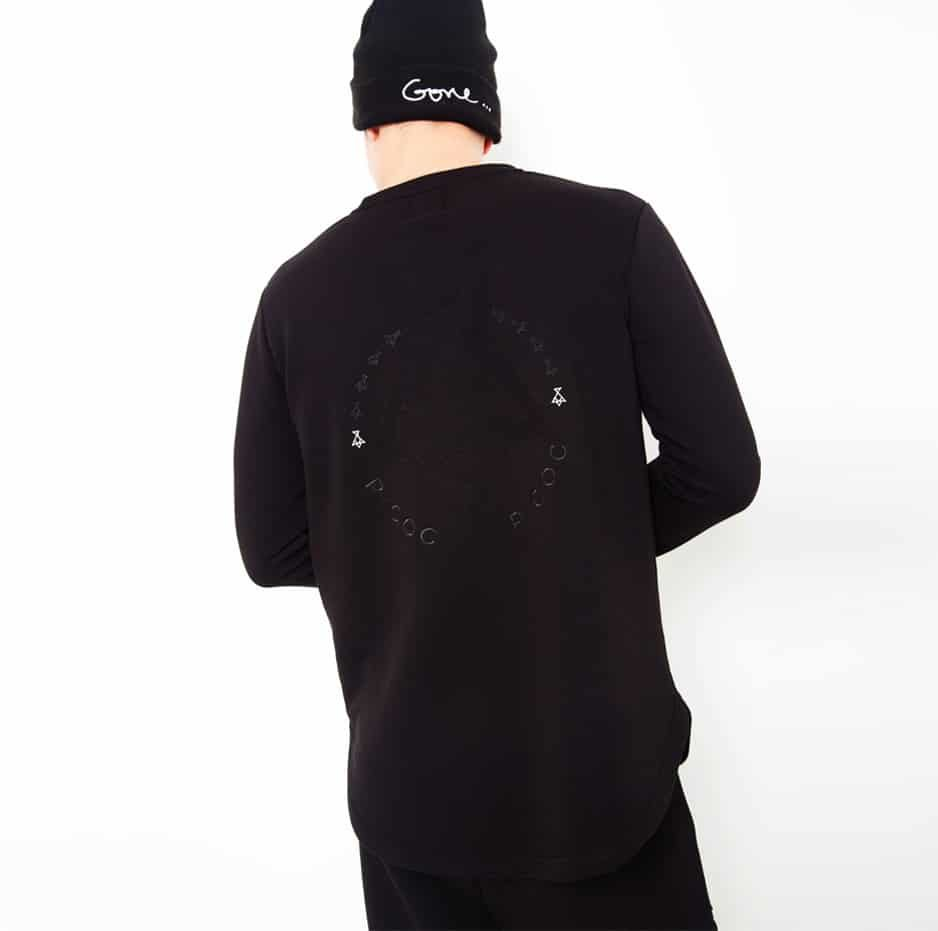 Hoodie with fluffy embroidery front and back_back