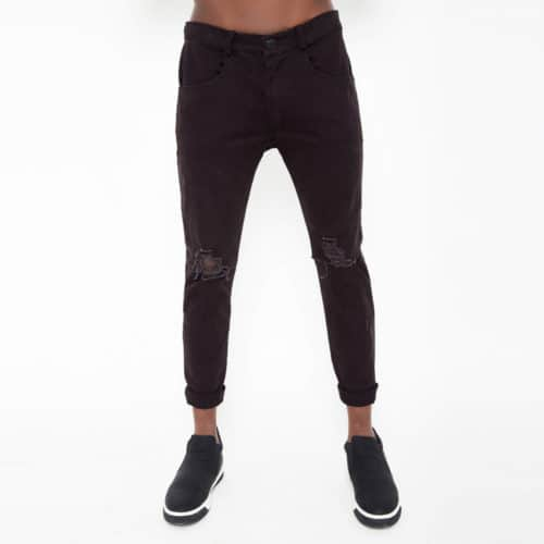 Biker skinny trousers with ripped details