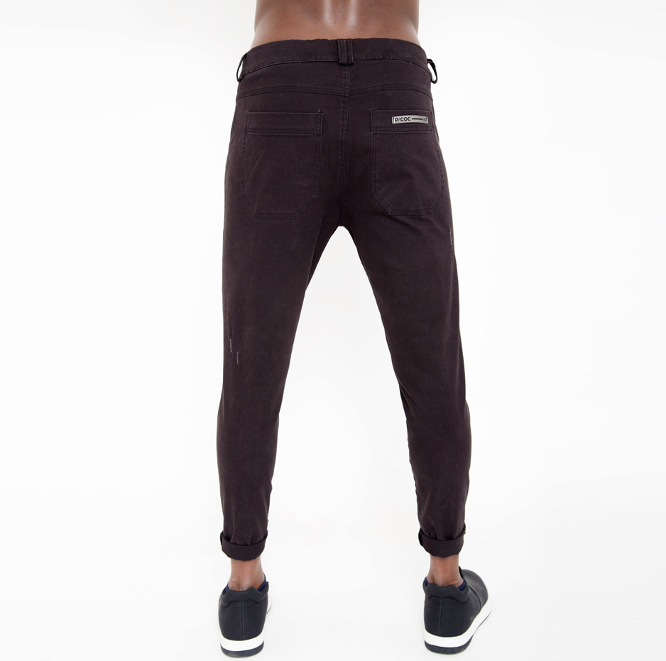 Biker skinny trousers with ripped details_back