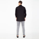 Black shirt with buttons_back