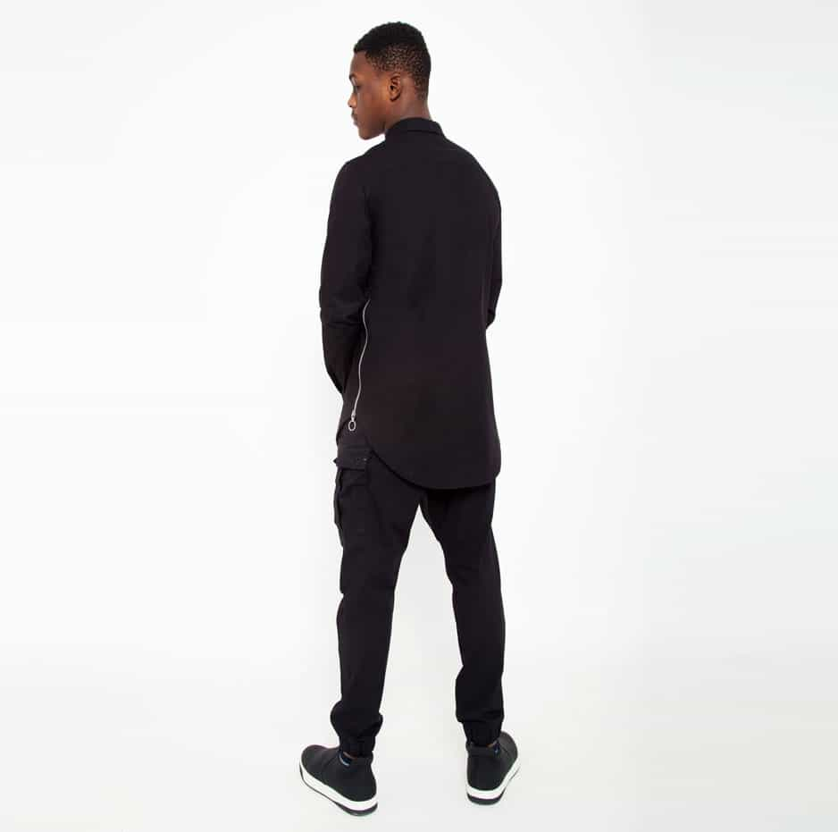 Black shirt with side zip_back_total