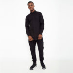 Black shirt with side zip_total