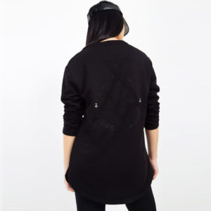 Black sweater with embroidery_back