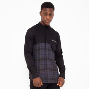 Double fabric shirt with checkered pattern_thumbnail