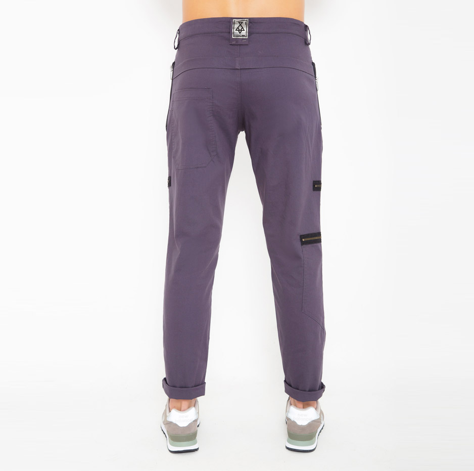 Grey trousers with pockets_back