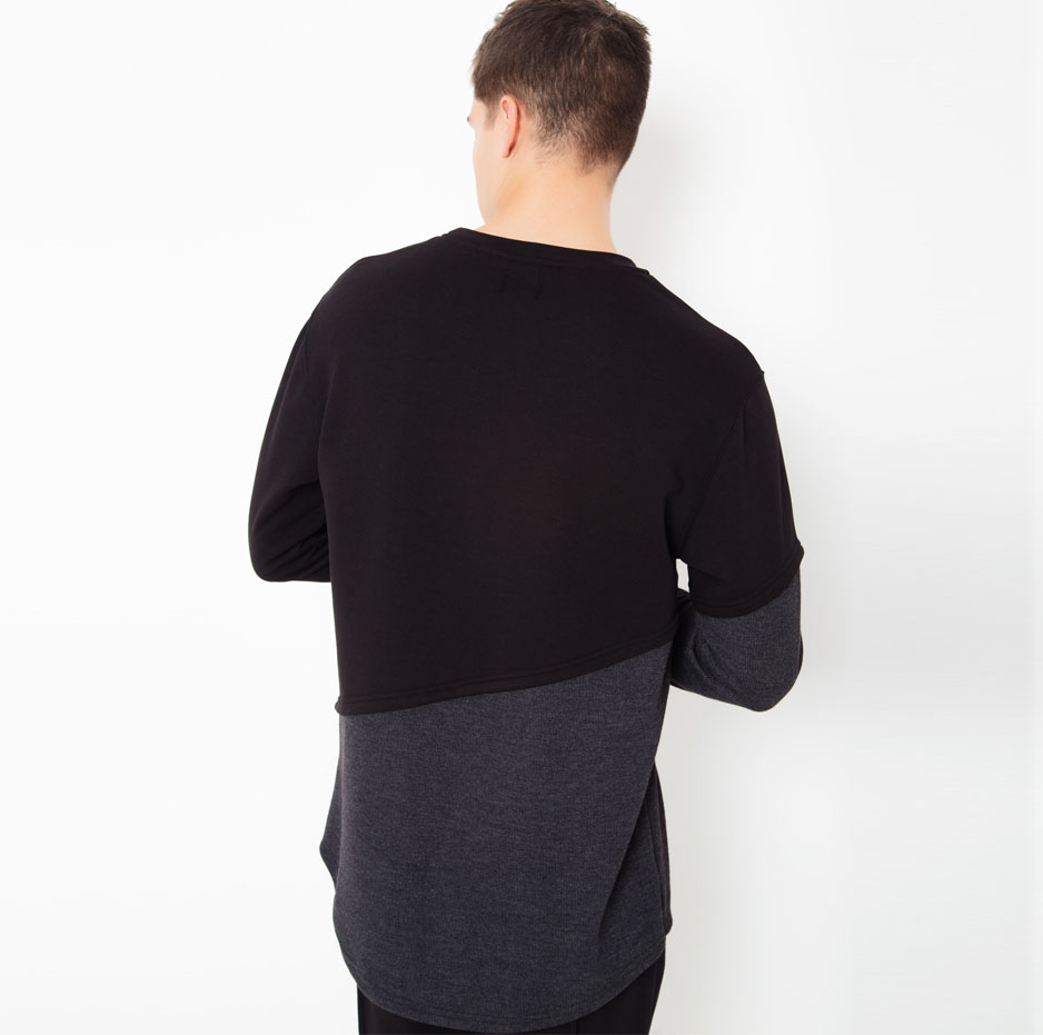 Hoodie with double fabric_back