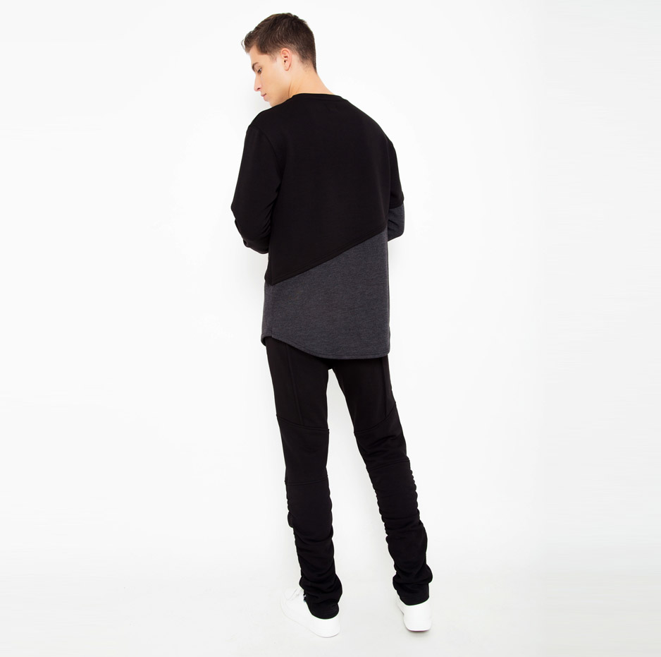 Hoodie with double fabric_back_total