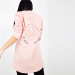 Pink sweater with embroidery_back