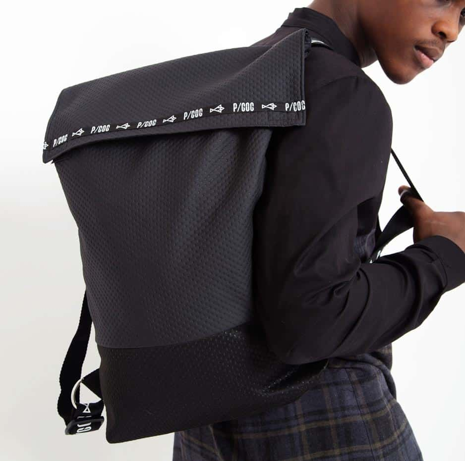 Rolltop backpack with PCOC tape_front