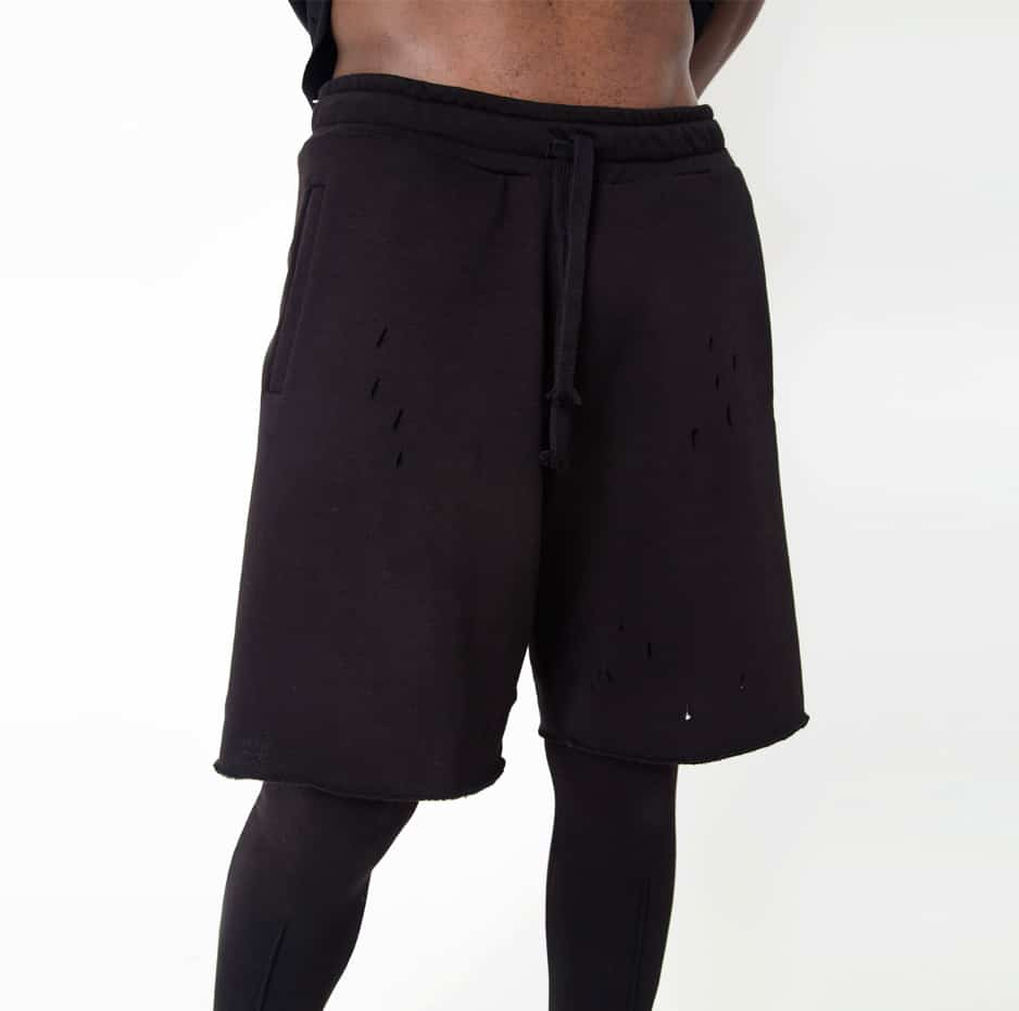 Shorts with lazer cuts and tights_zoom