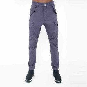 Grey biker pants with large pockets_thumbnail