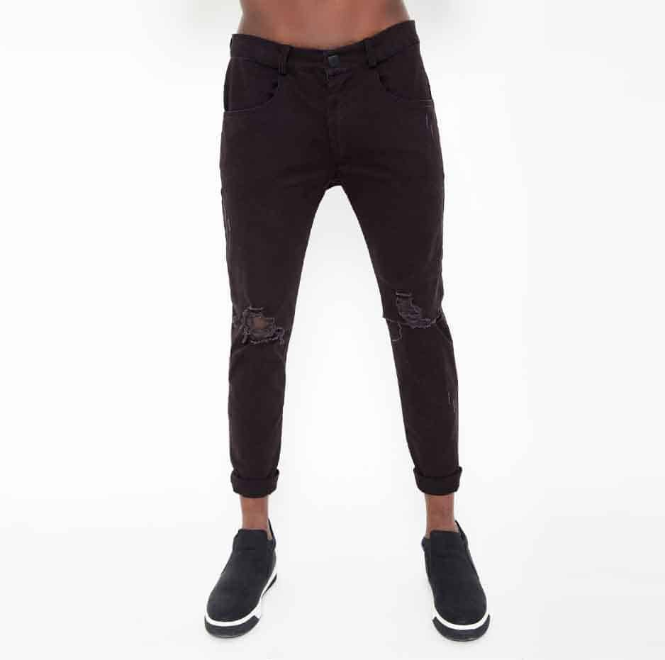 pants with ripped details
