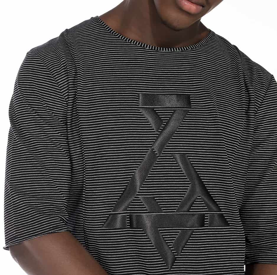 Striped t-shirt with P/COC logo