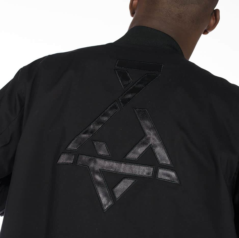 Bomber jacket with P/COC logo on the back
