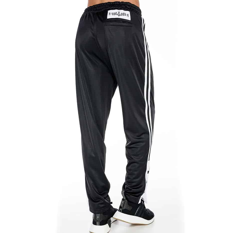 Sporty trousers with two stripes on the side