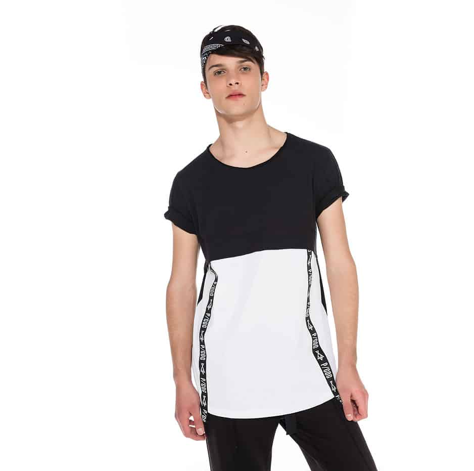Double fabric tshirt with P/COC tape on the side
