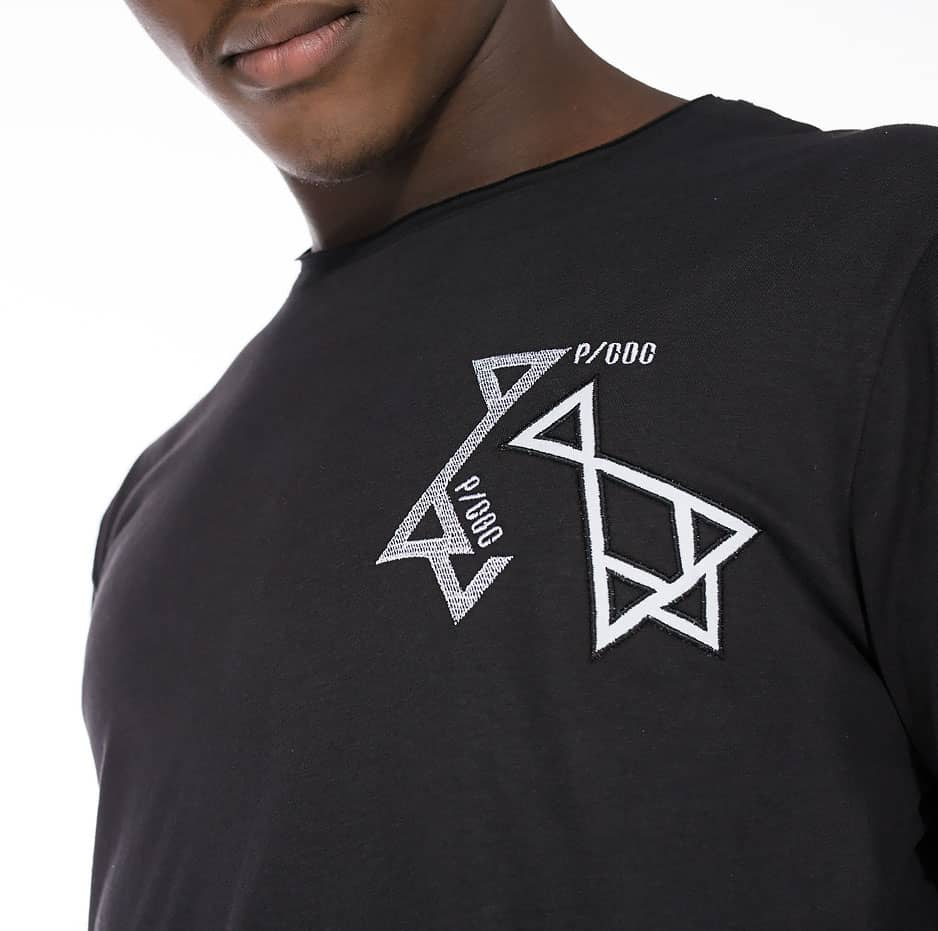 Black t-shirt with double P/COC logo