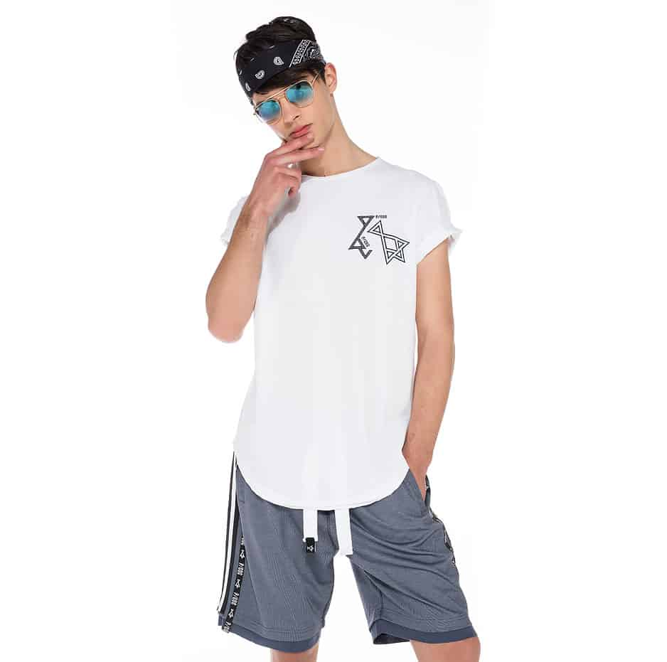 White t-shirt with double P/COC logo