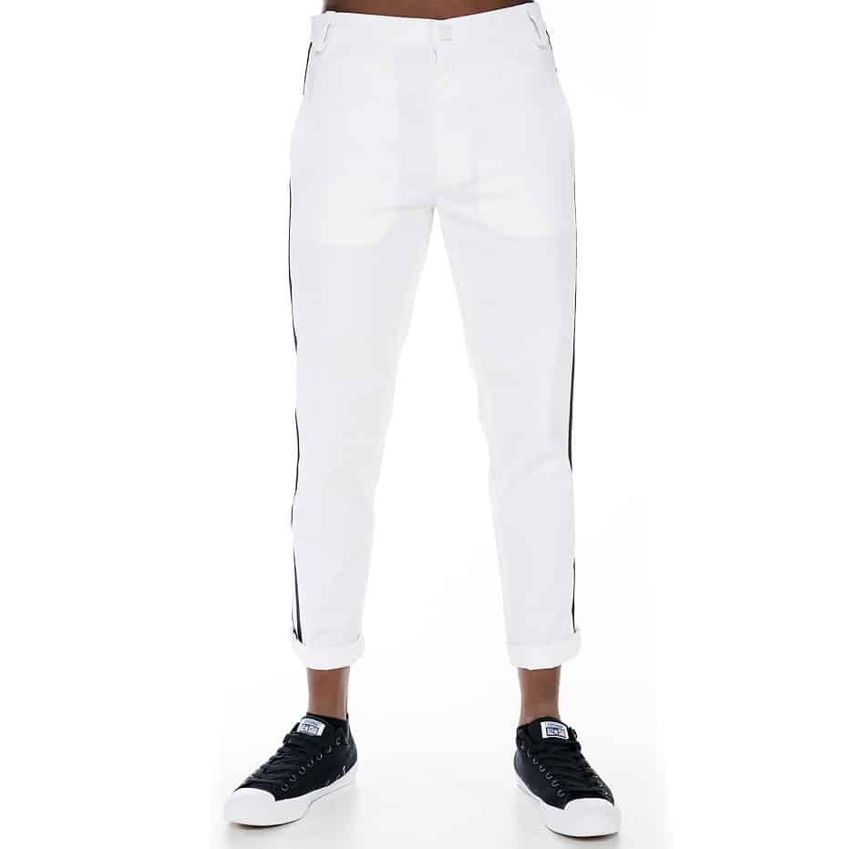 White lane pants with stripes on the sidep643_1
