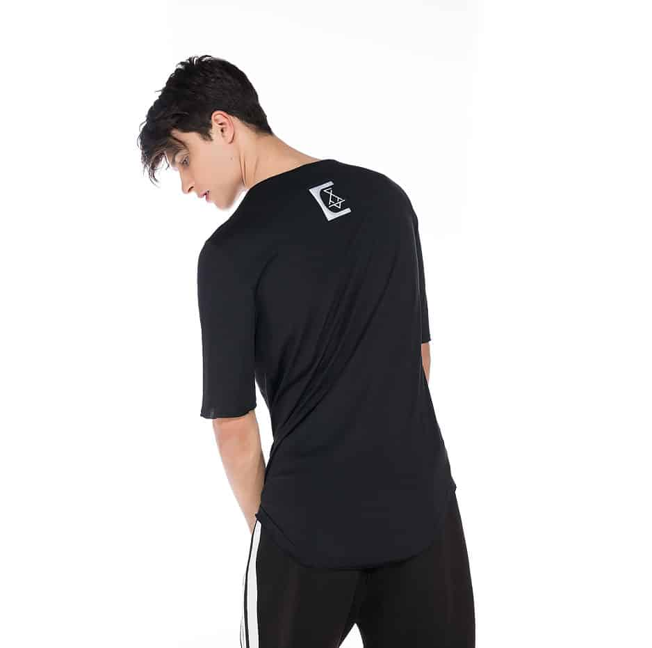Black T-shirt with P/COC tapes and logo on the back