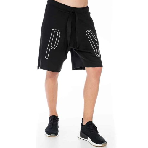 Black shorts with P/COC embroidery