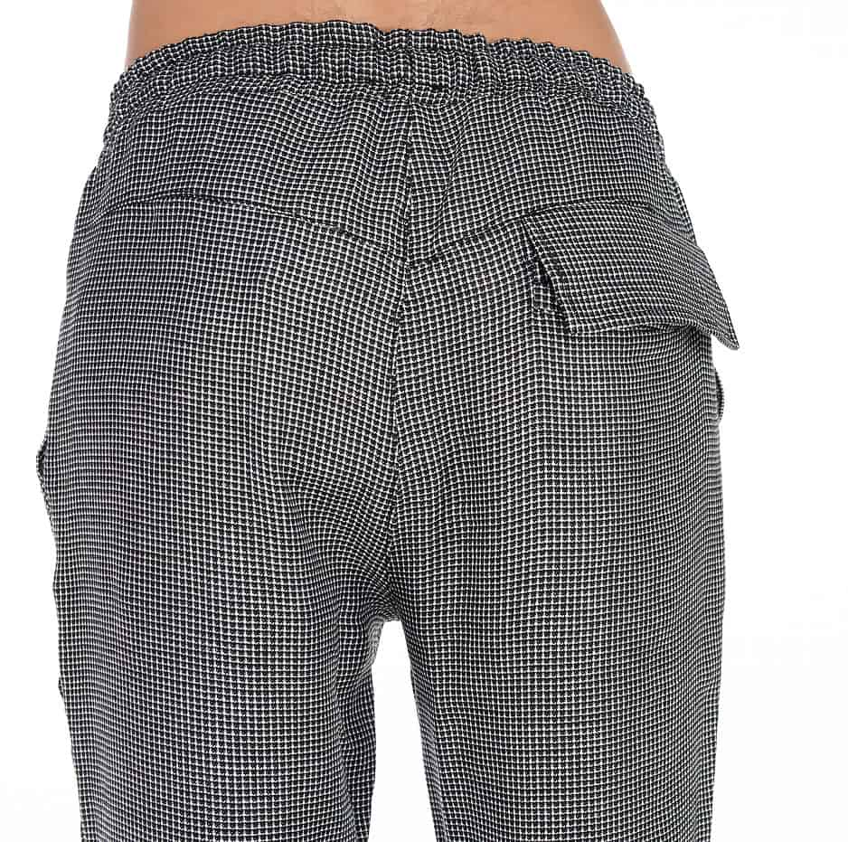 Zakar pants with plaid pattern