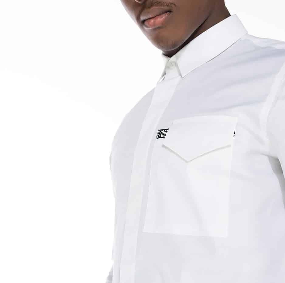 Black & white shirt with P/COC pocket