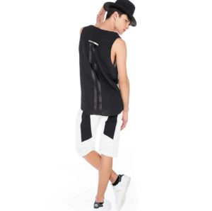 Honeycomb sleeveless t-shirt