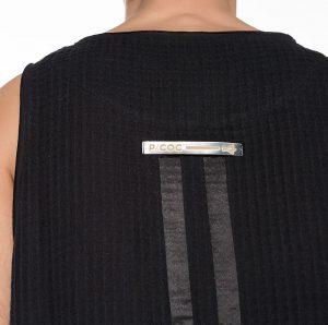 Honeycomb sleeveless t-shirt