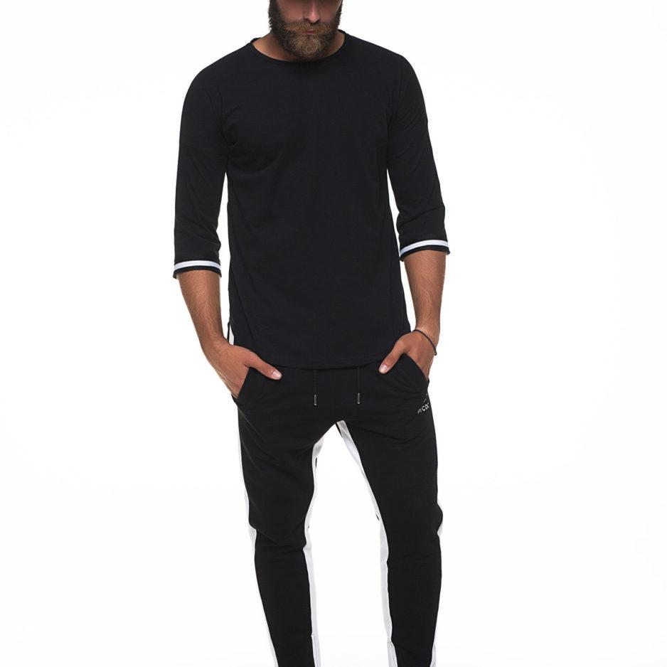Asymmetric t-shirt with 3/4 sleeve