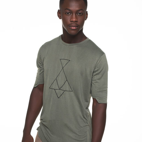 Green t-shirt with P/COC logo embroidery