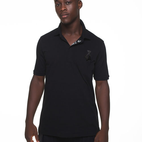 Polo t-shirt with fluffy P/COC logo