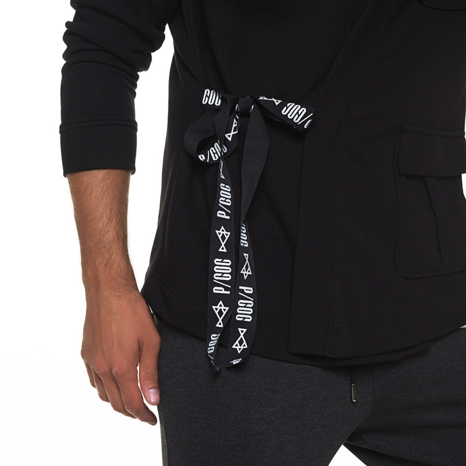 Kimono with side fastening
